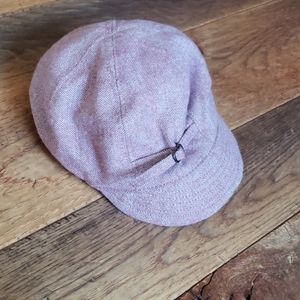 Purple wool brimmed hat